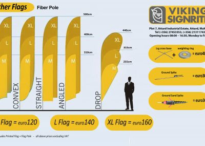 Fiber pole flags 2017