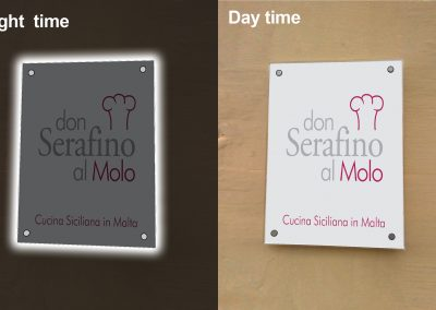 Perspex 10mm plaque night & day