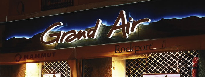 Grand air Led lit sign